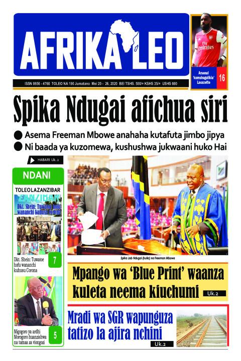 Spika Ndugai afichua siri. Asema Freeman Mbowe anahaha kutaf | AFRIKA LEO