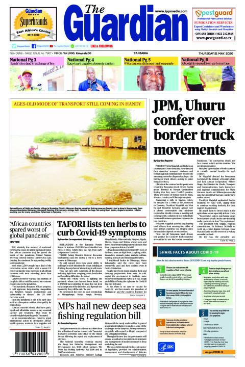 JPM, Uhuru confer over  border truck movements | The Guardian