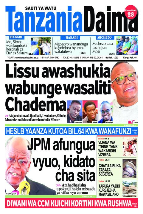 Lissu awashukia wabunge wasaliti Chadema | Tanzania Daima