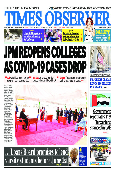 JPM REOPENS COLLEGES AS COVID-19 CASES DROP | Times Observer