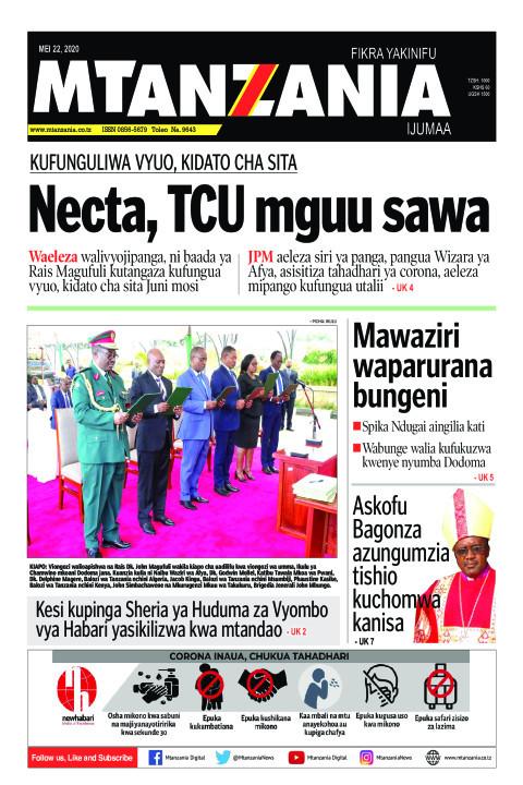 Kufunguliwa Vyuo, Kidato cha Sita: Necta, TCU mguu sawa | Mtanzania