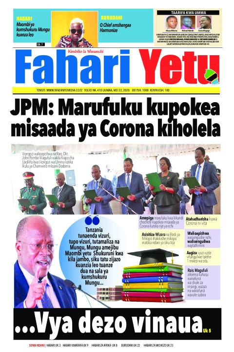 JPM: Marufuku kupokea misaada ya Corona kiholela | Fahari Yetu