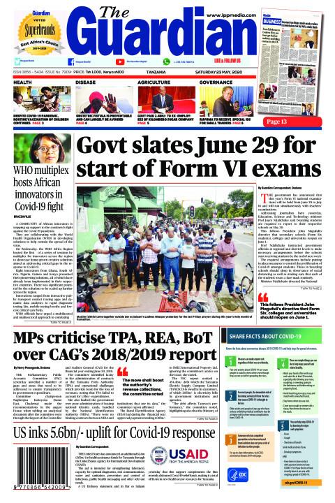 Govt slates June 29 for start of Form VI exams | The Guardian