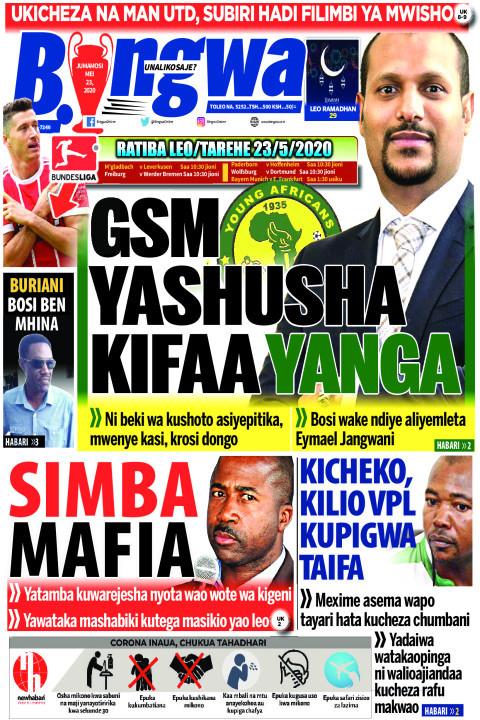 GSM yashusha kifaa Yanga | Bingwa