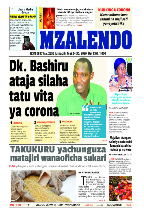 Bashiru ataja silaha tatu vita ya corona | Mzalendo