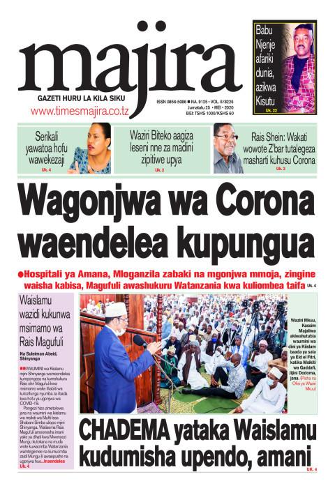 Wagonjwa wa corona waendelea kupungua   MAJIRA
