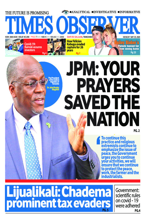 JPM: YOUR PRAYERS SAVED THE NATION | Times Observer