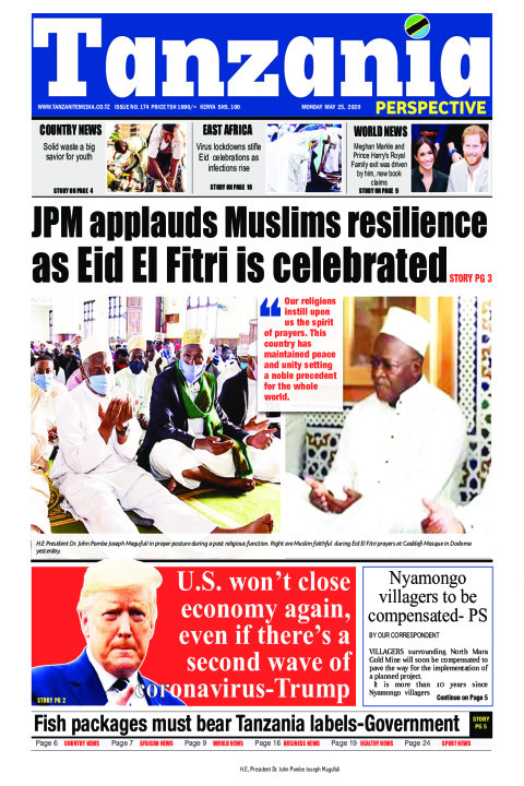 JPM applauds Muslims resilience as Eid El Fitri is celebrate | Tanzania Perspective