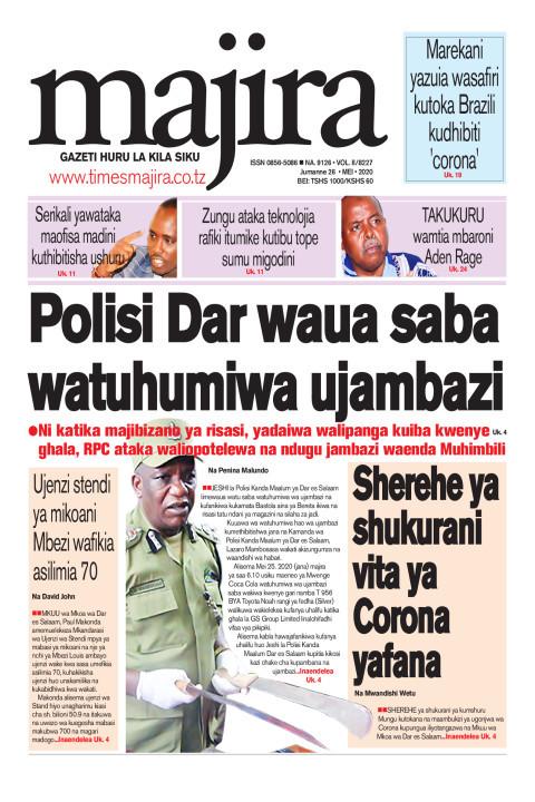 Polisi Dar waua  watuhumiwa ujambazi saba   MAJIRA