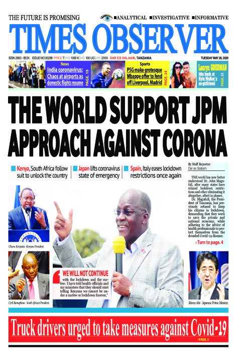 THE WORLD SUPPORT JPM APPROACH AGAINST CORONA | Times Observer