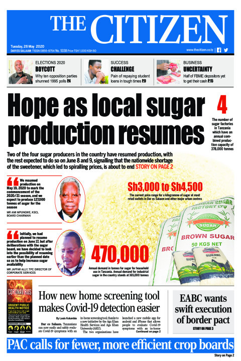 Hope as local sugar production resumes | The Citizen