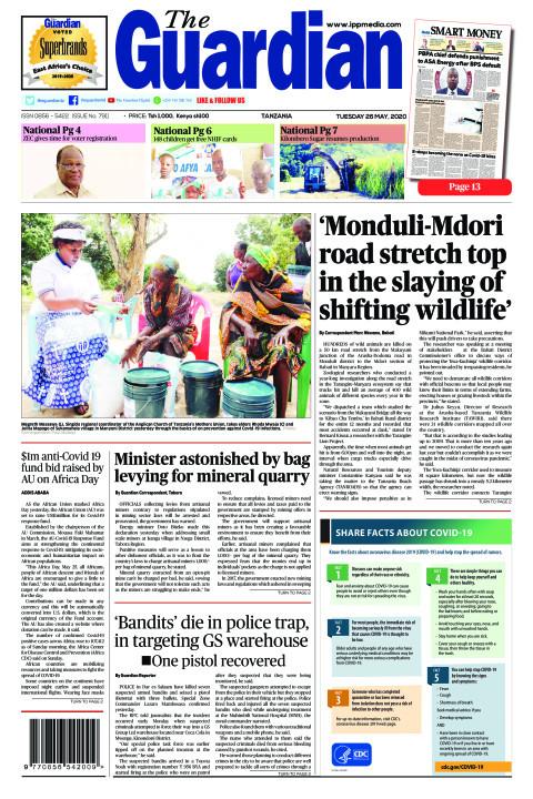 Monduli-Mdori  road stretch top in the slaying of  shifti | The Guardian