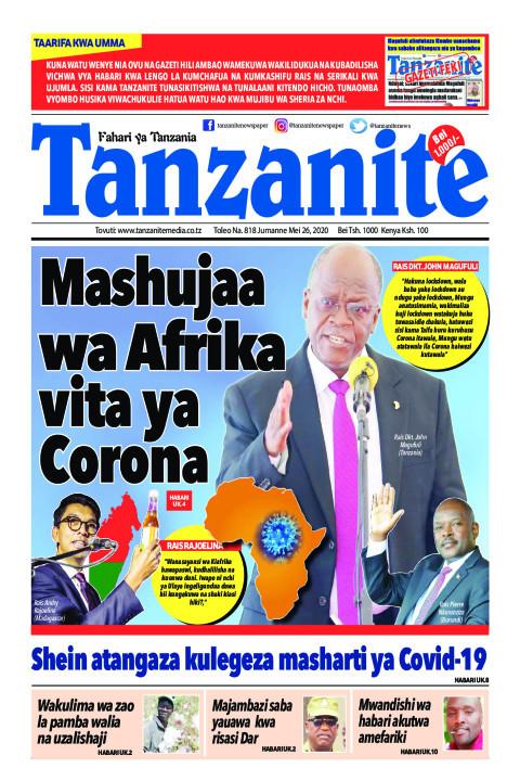 Mashujaa wa Afrika vita ya Corona | Tanzanite