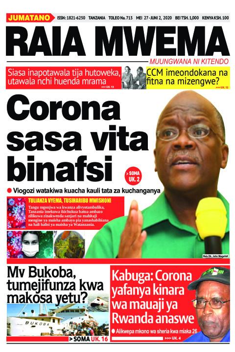 Corona sasa vita binafsi | Raia Mwema