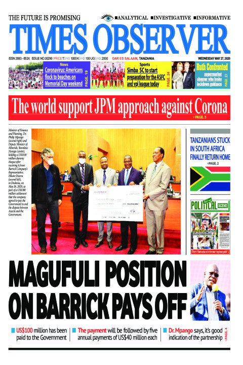 MAGUFULI POSITION ON BARRICK PAYS OFF | Times Observer