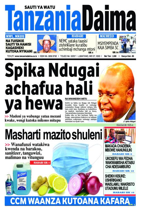 Spika Ndugai achafua hali ya hewa | Tanzania Daima