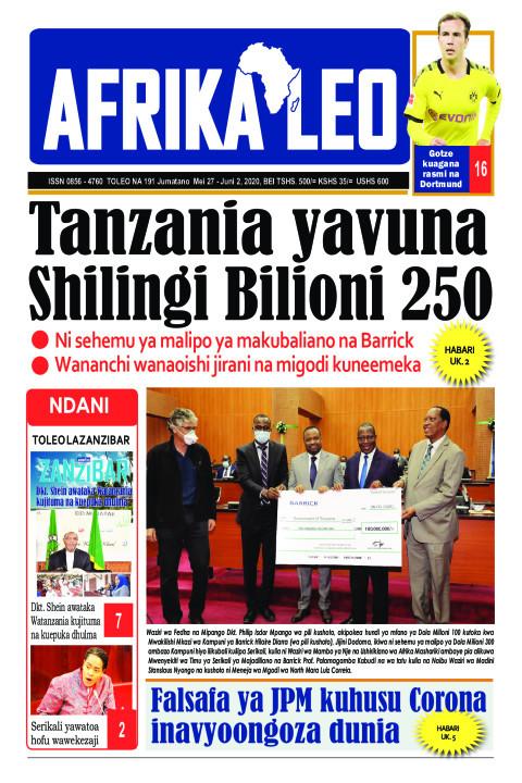 Tanzania yavuna Shilingi Bilioni 250 | AFRIKA LEO