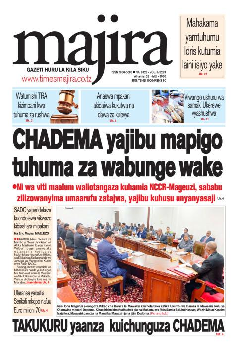 CHADEMA wajibu mapigo tuhuma za wabunge wake   MAJIRA