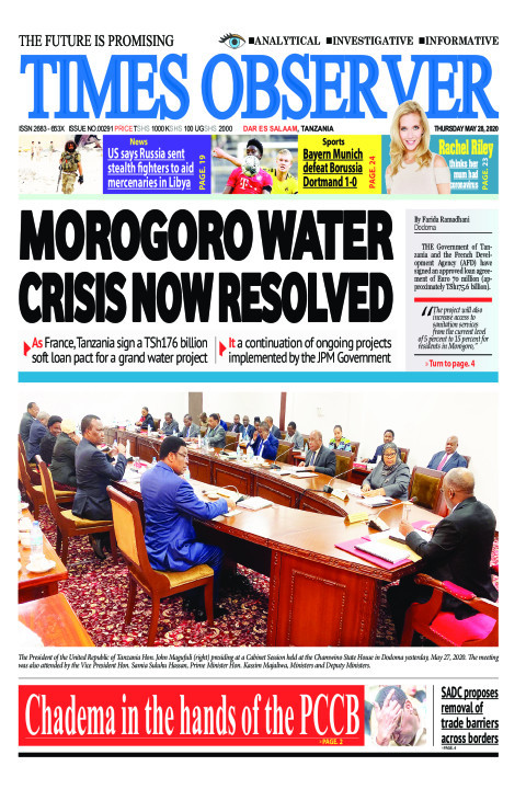 MOROGORO WATER CRISIS NOW RESOLVED | Times Observer