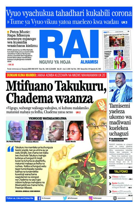 Mtifuano TAKUKURU, Chadema waanza | Rai