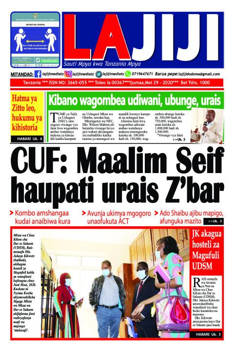 CUF: Maalim Seif  haupati urais Z'bar  | LaJiji