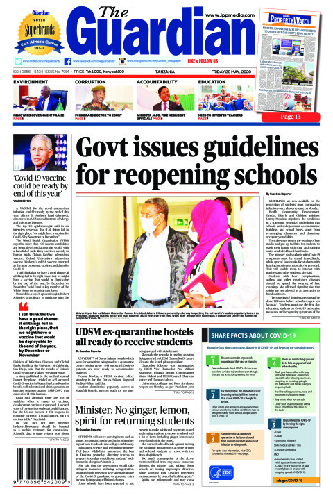 Govt issues guidelines for reopening schools  | The Guardian