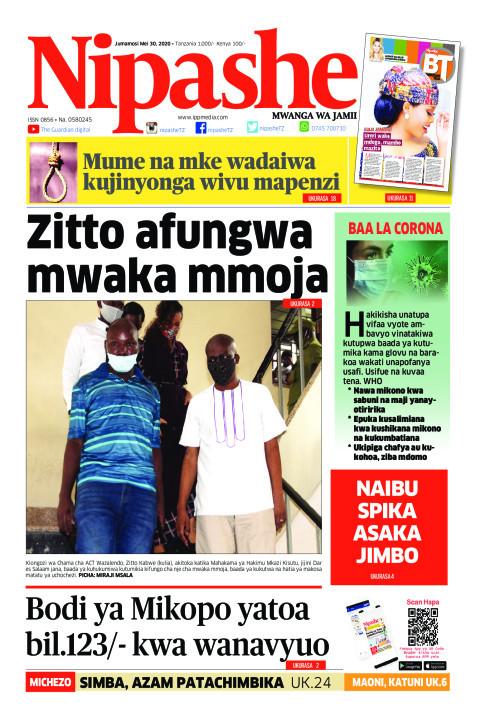 Zitto afungwa mwaka mmoja | Nipashe