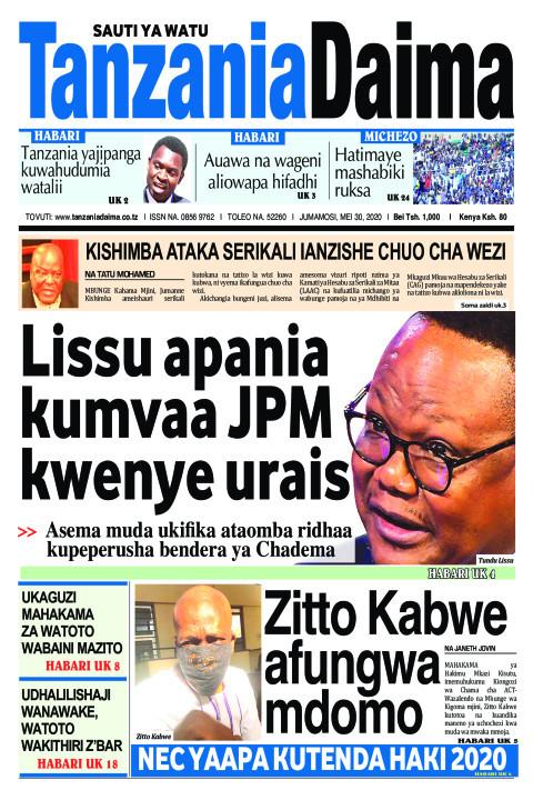 Lissu apania kumvaa JPM kwenye urais | Tanzania Daima