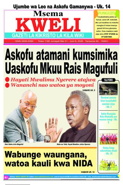 Askofu atamani kumsimika Uaskofu Mkuu Rais Magufuli | MSEMA KWELI