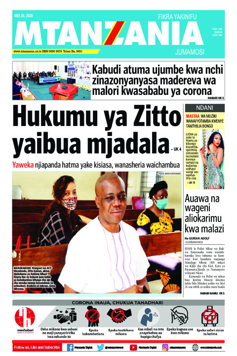 Hukumu ya Zitto yaibua mjadala. Yaweka njia panda hatma yake | Mtanzania