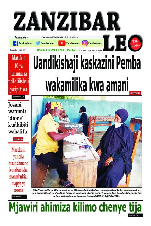 Uandikishaji kaskazini Pemba wakamilika kwa amani | ZANZIBAR LEO