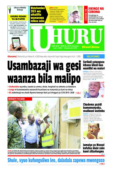 Usambazaji wa gesi waanza bila malipo | Uhuru