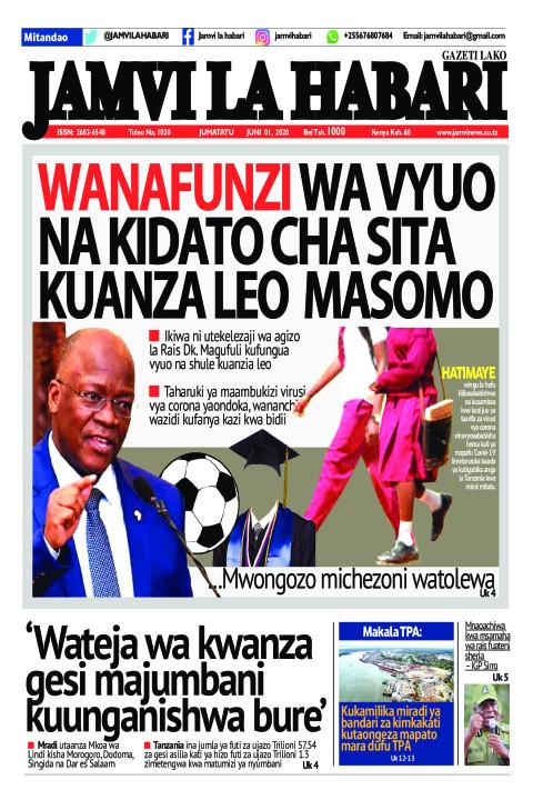 WANAFUNZI VYUO NA KIDATO CHA SITA KUANZA LEO MASOMO | Jamvi La Habari