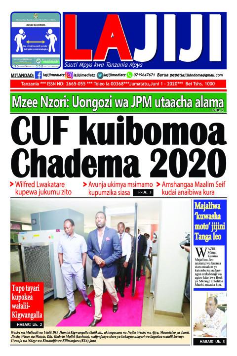 CUF kuibomoa Chadema 2020  | LaJiji