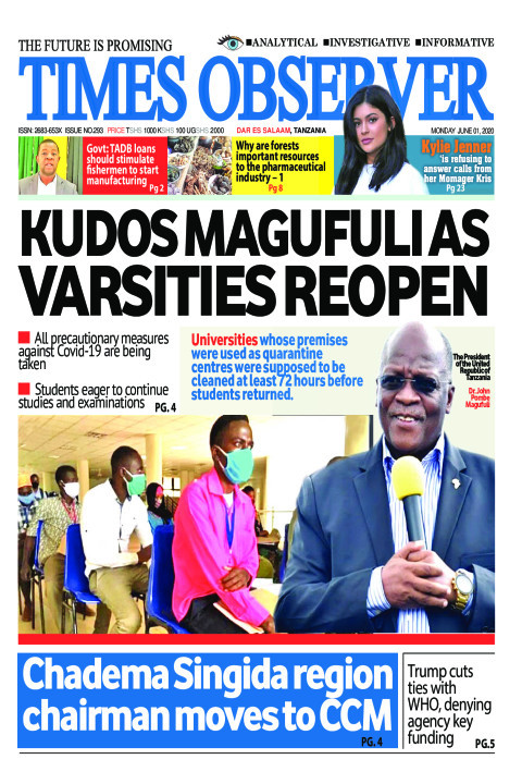 KUDOS MAGUFULI AS VARSITIES REOPEN | Times Observer
