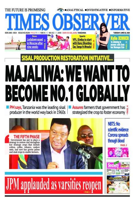 MAJALIWA: WE WANT TO BECOME NO.1 GLOBALLY | Times Observer