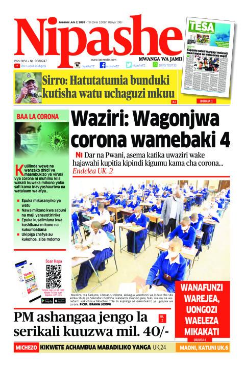 Waziri: Wagonjwa corona wamebaki | Nipashe