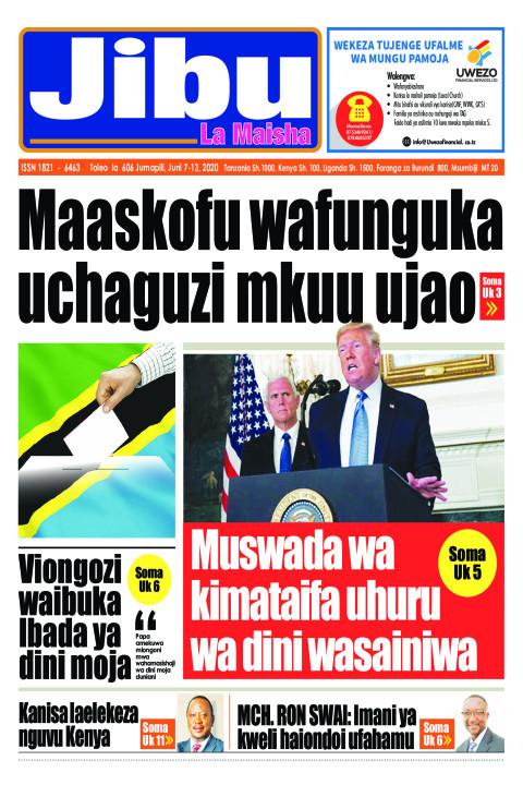 Maaskofu wafunguka uchaguzi mkuu ujao | JIBU LA MAISHA