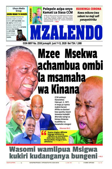 MZEE MSEKWA ACHAMBUA OMBI LA MSAMAHA WA KINANA | Mzalendo