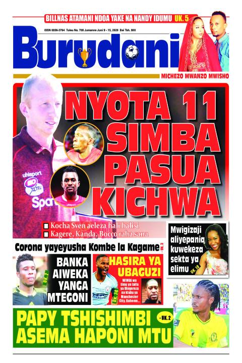 NYOTA 11 SIMBA PASUA KICHWA | Burudani