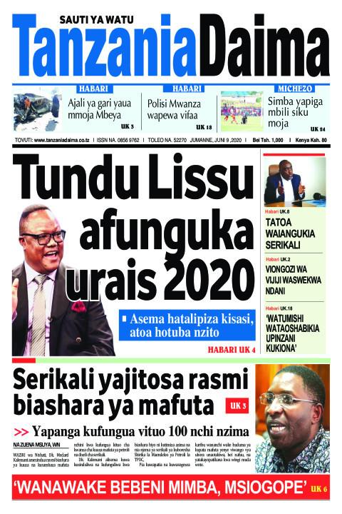 TunduLissu afunguka urais 2020   Tanzania Daima