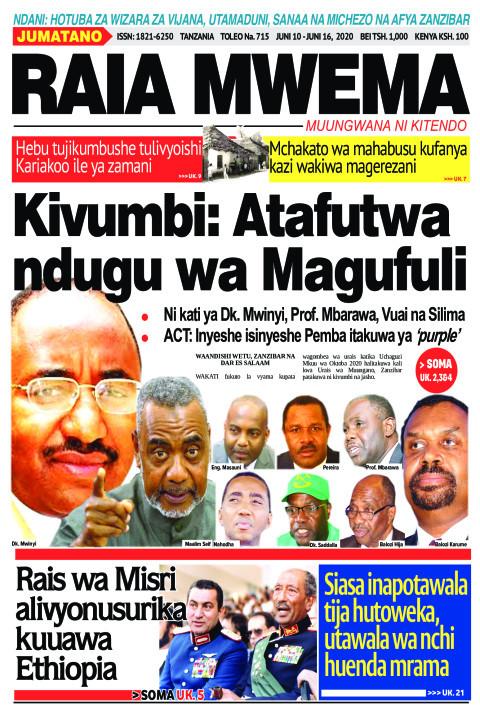 Kivumbi: Atafutwa ndugu wa Magufuli | Raia Mwema