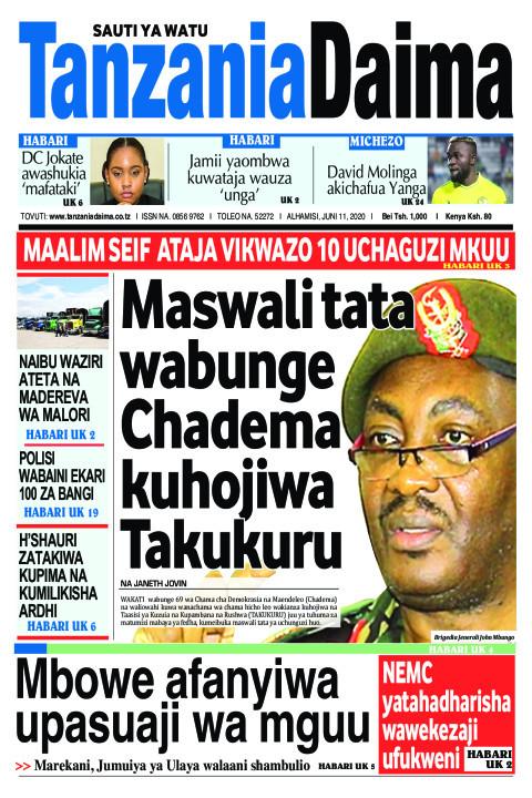 Maswali tata wabunge Chadema kuhojiwa Takukuru   Tanzania Daima