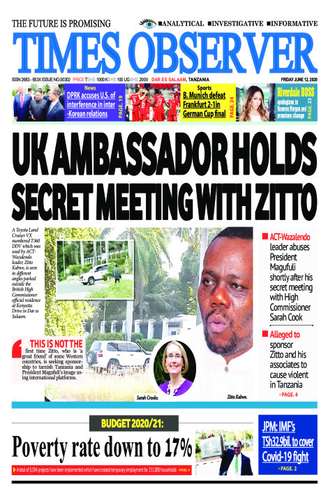 UK AMBASSADOR HOLDS SECRET MEETING WITH ZITTO | Times Observer