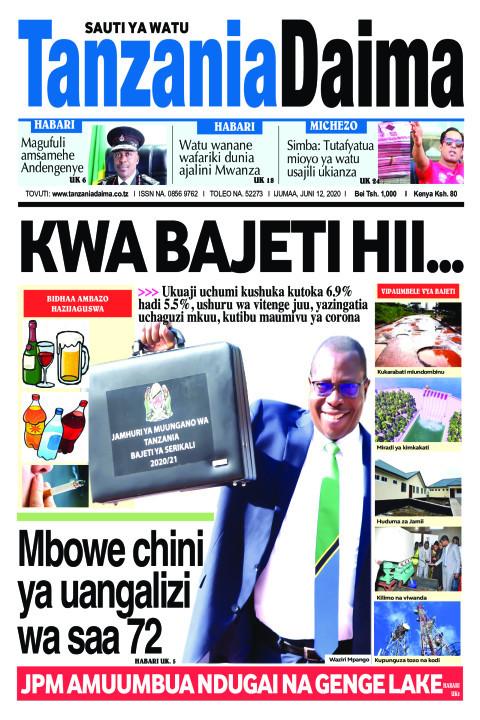 Kwa bajeti hii...   Tanzania Daima