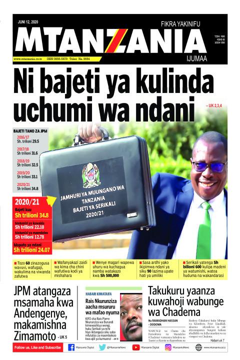 Ni bajeti ya kulinda uchumi wa ndani | Mtanzania