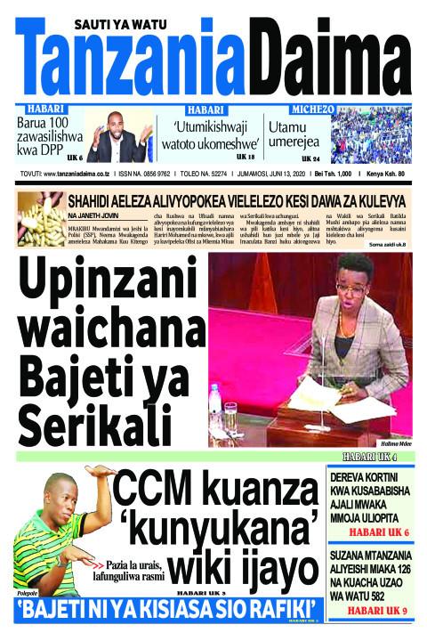 Upinzani waichana Bajeti ya Serikali   Tanzania Daima
