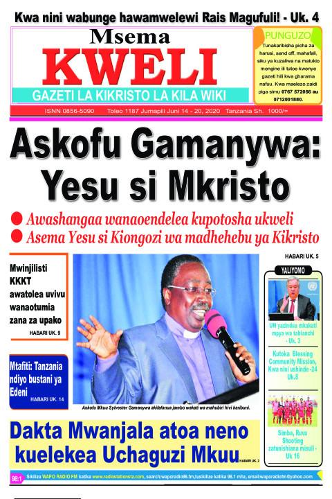 Askofu Gamanywa: Yesu si Mkristo | MSEMA KWELI