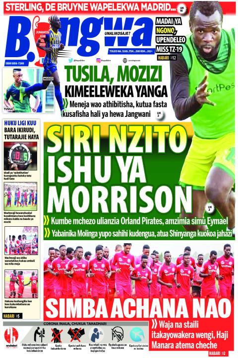 Siri Nzito Ishu ya Morrison  | Bingwa