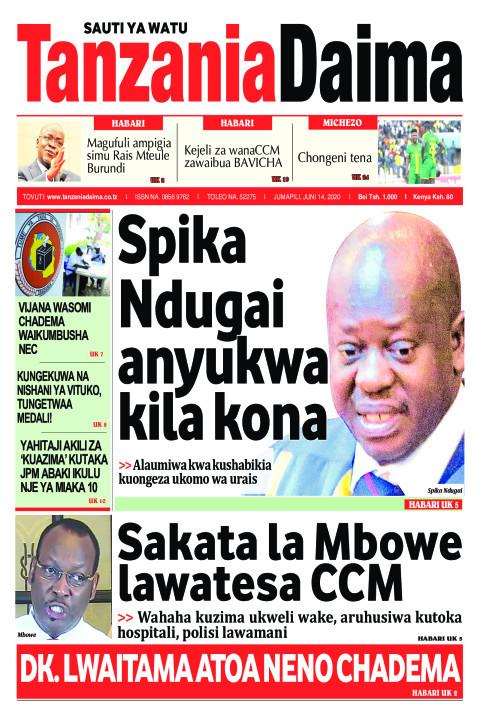 Spika Ndugai anyukwa kila kona   Tanzania Daima